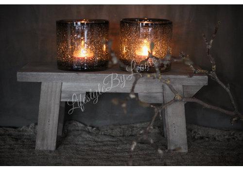 LifestyleByLeonie Houten vensterbank krukje Naturel hout 35 cm