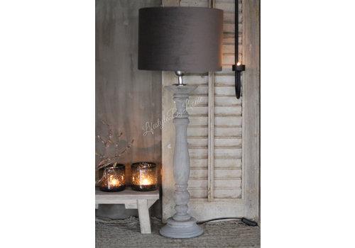 LifestyleByLeonie Cilinder lampenkap Velours brown 30 cm