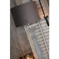 Cilinder lampenkap velours brown 30 cm