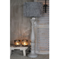 Cilinder lampenkap Velours grey 35 cm