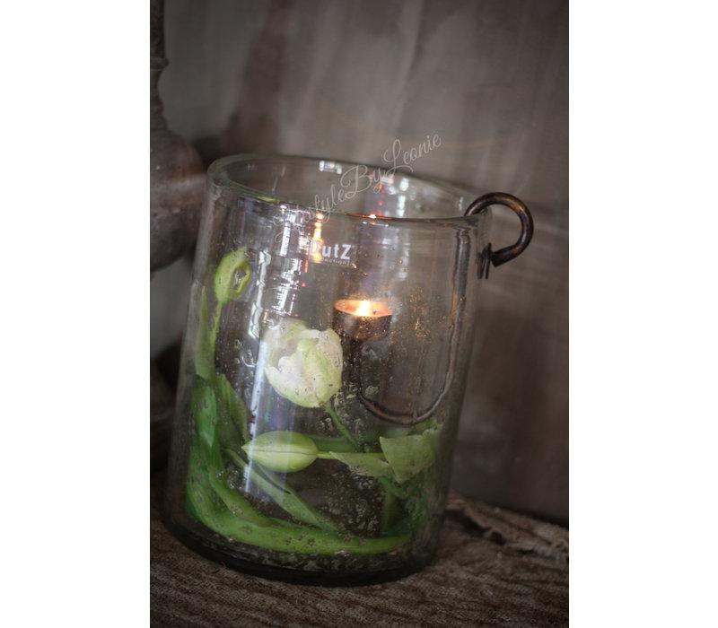 Groen witte tulp half open 41 cm
