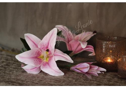 LifestyleByLeonie Zijden Lelie roze 80 cm