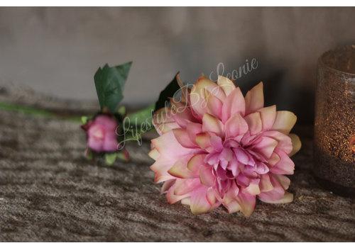 Zijden Dahlia roze 50 cm