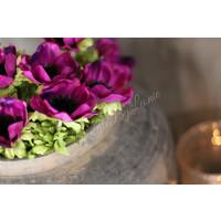 Zijden Anemoon paars 32 cm