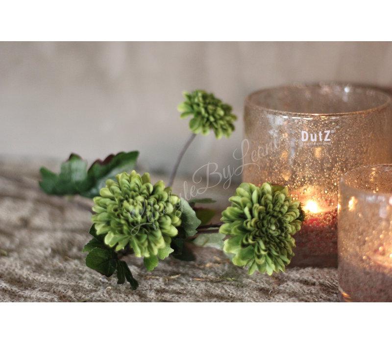 Zijden mini Dahlia groen 55 cm