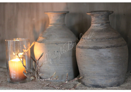 LifestyleByLeonie Stenen halskruik / clay pot - maat M