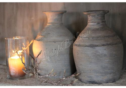 LifestyleByLeonie Stenen halskruik / clay pot