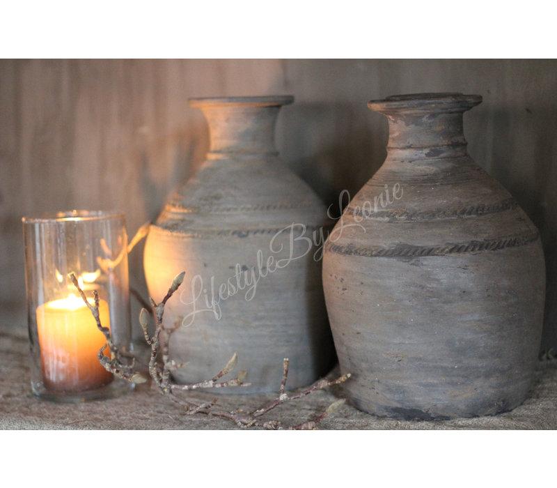 Stenen halskruik / clay pot - maat M