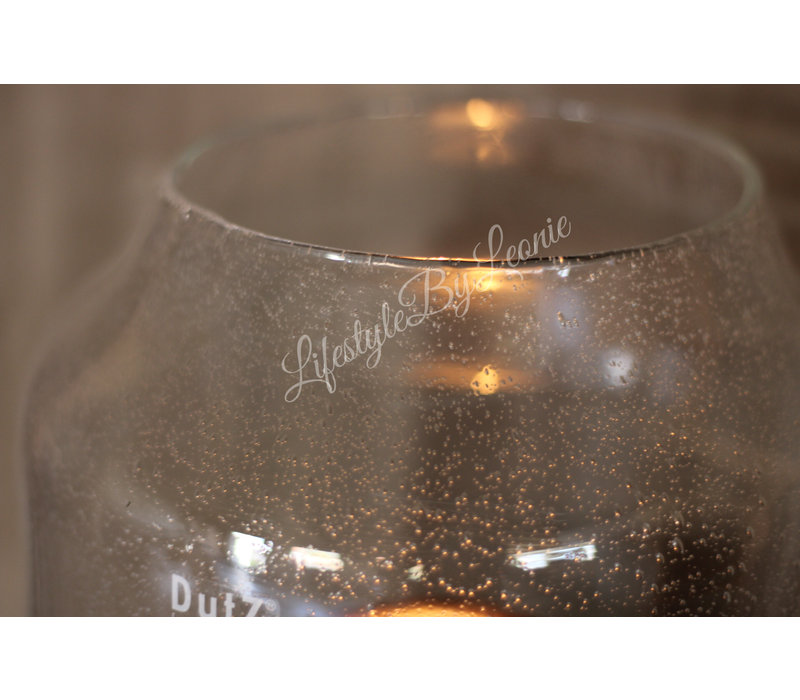 DUTZ vaas / windlicht Robalo bubbels 32 cm