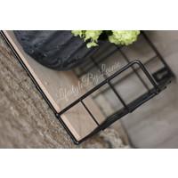 Wandrek metaal/hout 40 cm
