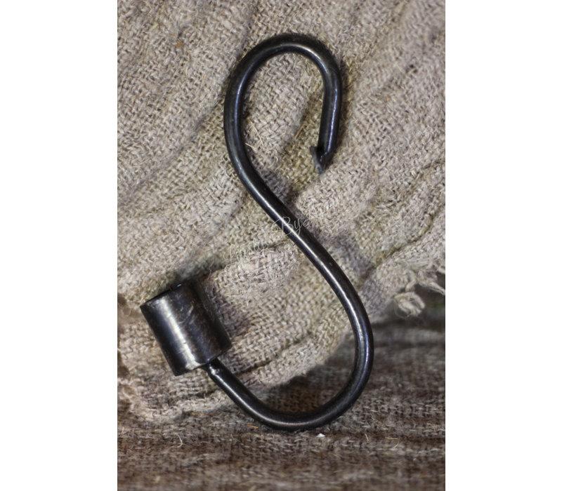 S-kandelaar zwart dinerkaars 15 cm