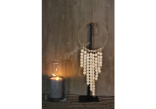 LifestyleByLeonie Ring hanger met houten kralen