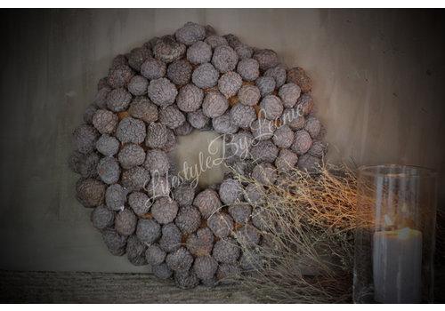 LifestyleByLeonie Krans Atafruit Naturel 40 cm