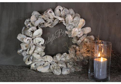 LifestyleByLeonie Sobere oester krans 40 cm