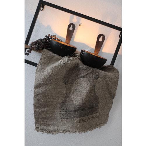 Shabby linnen doek Ossenoog