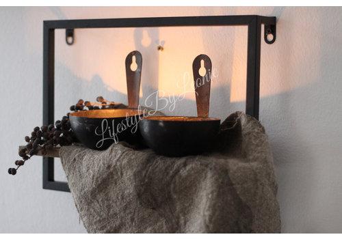 LifestyleByLeonie Wandrekje metaal / hout 35 cm