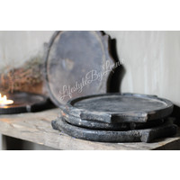 Aura Peeperkorn hardstenen plate zwart
