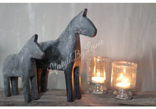 LifestyleByLeonie Houten paardje grijs/bruin - maat L