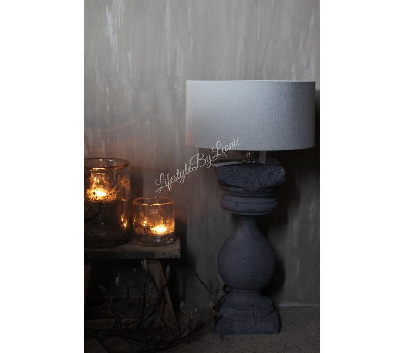 Aura Peeperkorn oude baluster lampvoet Grey