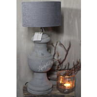 Aura Peeperkorn baluster lampvoet Naturel