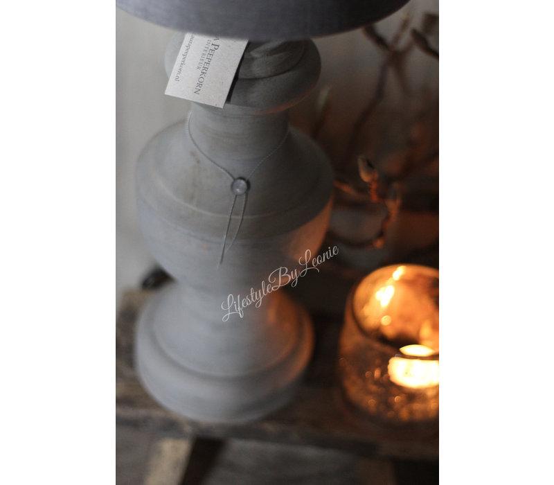 Aura Peeperkorn baluster bol lampenvoet