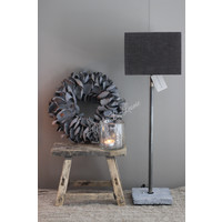 Aura Peeperkorn vierkante lampenkap Bever 20 cm