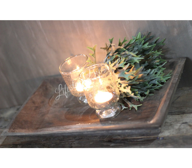 Aura Peeperkorn houten plate vierkant 39 cm