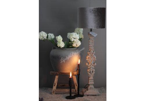 A-P Aura Peeperkorn houtsnijwerk lampvoet 68 cm