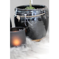 Aura Peeperkorn zwart geglazuurde kruik