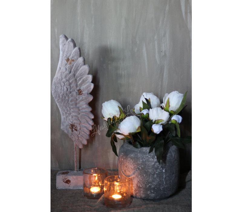 Ornament Wings op voet 64 cm