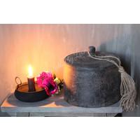 Houten pot met deksel Old grey