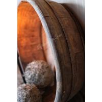 Ronde gebruikte houten olijfbak - maat L