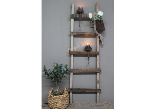 LifestyleByLeonie Houten ladder / trap 116 cm