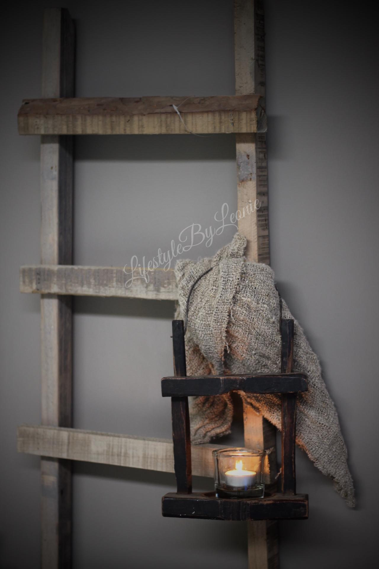 Robuuste Houten Ladder.Houten Ladder Trap 116cm Lifestyle By Leonie