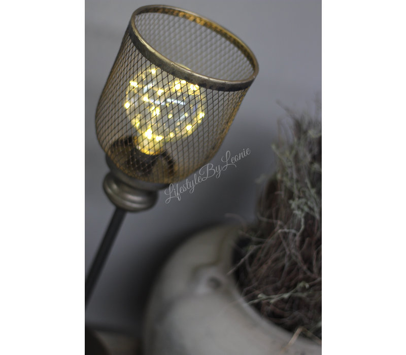 Hoge LED tafellamp Draad 50 cm