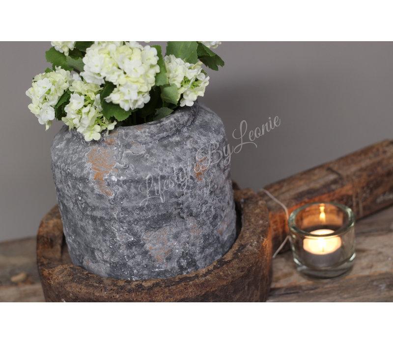 Kruik Raw greywash 16 cm