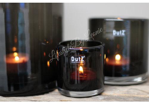 DUTZ cilinder windlicht black 7 cm