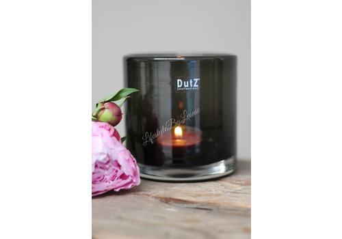 Dutz DUTZ cilinder windlicht black 10 cm