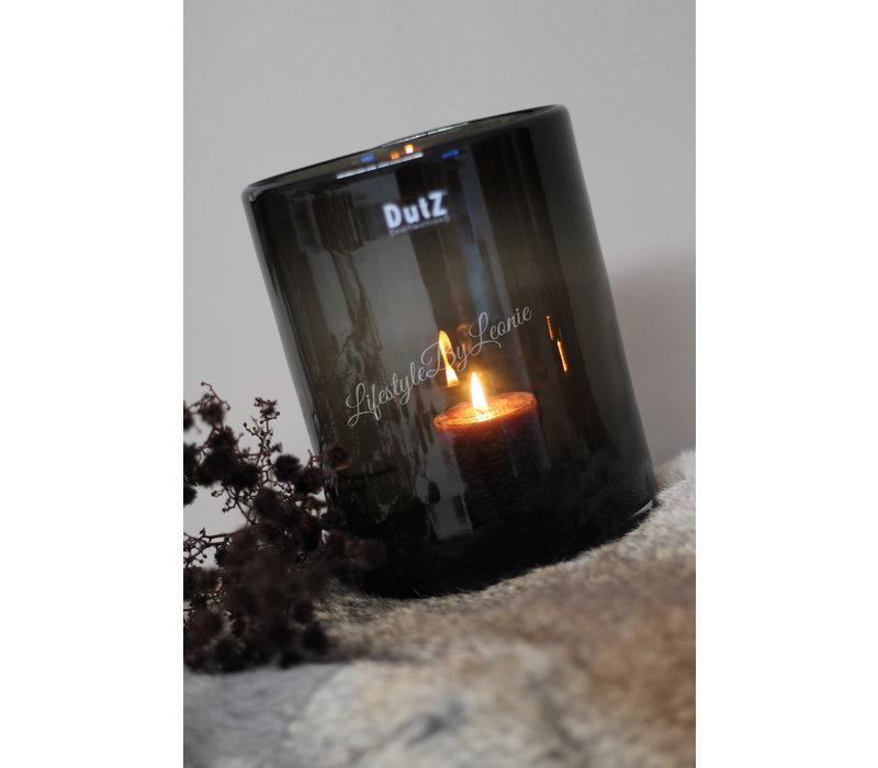 DUTZ cilinder windlicht black 19 cm