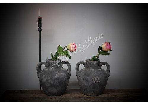 LifestyleByLeonie Kruik grijs beton Trophy 19 cm