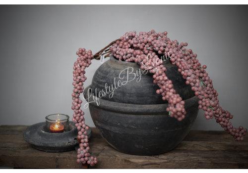 LifestyleByLeonie Namaak dadeltak oud roze 70 cm