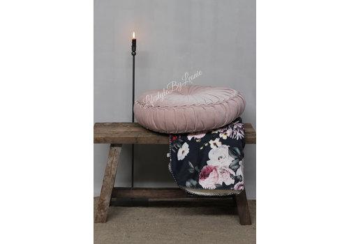 LifestyleByLeonie Rond velvet kussen Light pink 60 cm