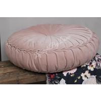 Rond velvet kussen Light pink 60 cm