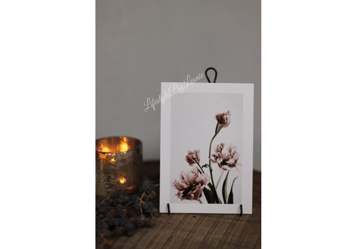 Kaart Roze bloemen