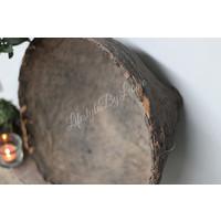 Authentieke oude leemmand / bamboemand groot