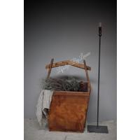 Grote houten rijstbak 62 cm