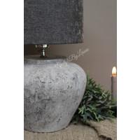 Cilinder lampenkap Velours grey 25 cm