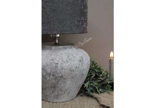 LifestyleByLeonie Cilinder lampenkap Velours grey 25 cm