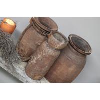 Authentieke Nepalese waterkruik met touw - maat S