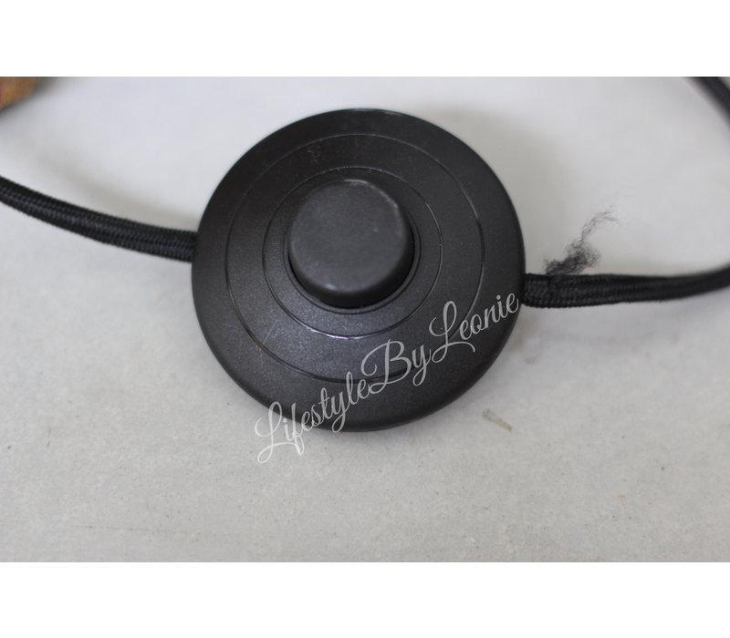 Sobere mat zwarte vloerlamp Betty 135 cm